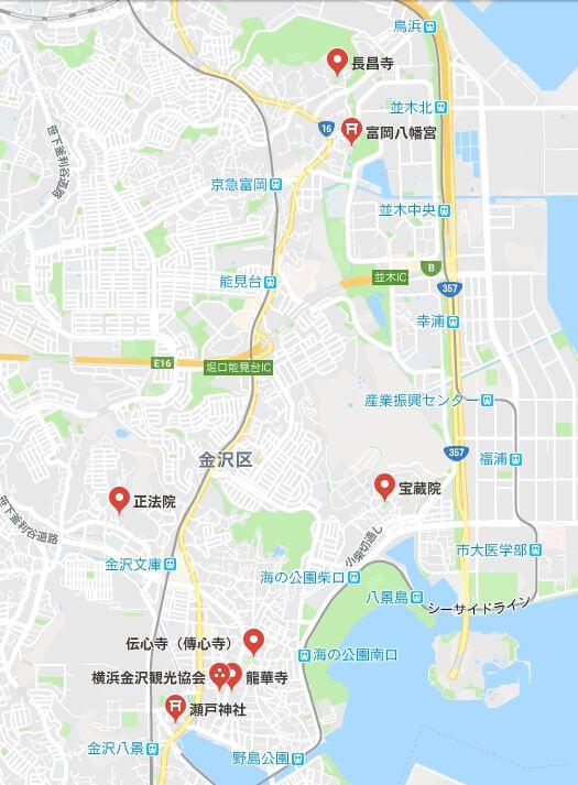 横浜金沢七福神マップ