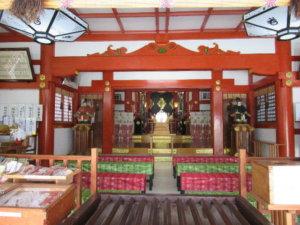 越中稲荷神社 拝殿