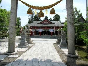 越中稲荷神社 社殿