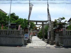 越中稲荷神社 鳥居