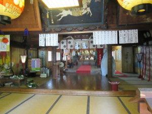 大木白山社の拝殿