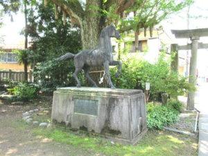 大木白山社の神馬