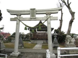 建石勝神社の鳥居