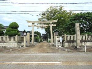先宮熊野神社鳥居 参道