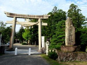 高瀬神社神社標